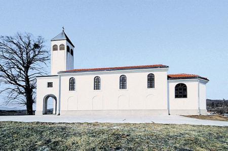 Biserica Sfântul Andrei din satul istroromân Jeieni, Istria.