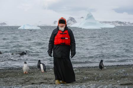 Patriarhul Kiril în Antarctida, 17 februarie 2016.