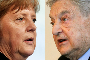 Image result for soros si merkel photos